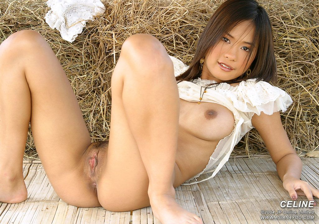 nude naked in the farmyard