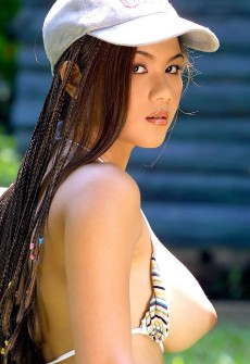 hair in dreads braids asian girl