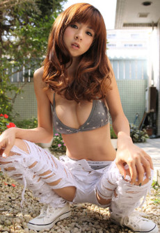 torn jeans asian girl