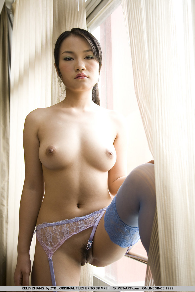 stockings naked Chinese girl in